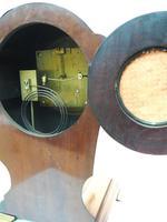 Edwardian Tulip shaped 8-Day Mantel Clock English Mahogany Inlaid Striking Mantle Clock Magnificent Size (11 of 11)
