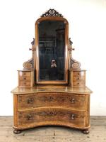 Antique 19th Century Concave Mahogany Dressing Table (2 of 21)