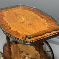 French Marquetry Drinks Trolley (2 of 4)