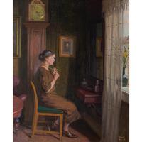 Robert Panitsch, Interior Scene with Pensive Woman (5 of 10)