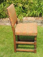 8 Waring & Gillow Chairs Oak William Morris Fabric (6 of 10)