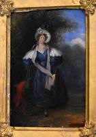 Late Regency Miniature Oil of a Lady (3 of 7)