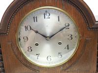 Solid Oak Hat Shaped Mantel Clock 8-day by Hac Westminster Chime (8 of 10)