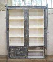 Large Scale 19th Century Painted Housekeepers Cupboard (8 of 17)