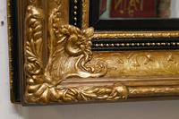 Rectangular Gilt and Black Rococo Wall Mirror (6 of 6)