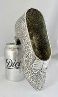 Large Very Rare Sterling Silver Shoe Box. Birmingham 1921 (5 of 9)