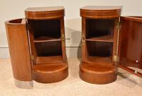 Edwardian Mahogany Bow-fronted Bedside Cabinets (2 of 9)