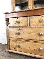 Antique Victorian Pine Dresser with Glazed Top (7 of 13)