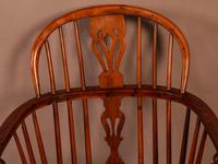 Yew Wood low Windsor Chair Rockley Maker (5 of 10)