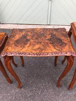 Quality Burr Walnut Nest of 3 Tables (10 of 10)