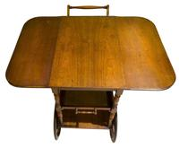 Vintage Mahogany Tea Trolley with Drop Down Flaps (5 of 7)