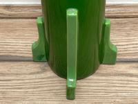 Original Art Nouveau Eichwald Pottery Green Glazed Rocket Flower Vase (7 of 23)