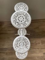 Victorian 19th Century Garden Cast Iron Painted White 6 Branch Plant Stand (43 of 47)