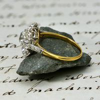 The Antique 3 Carat Diamond Cluster Ring (4 of 6)