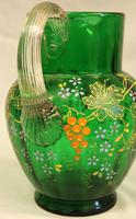 An Antique Green Glass Decorated Jug (3 of 6)