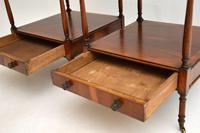 Pair of Antique Georgian Style Yew Wood Side Tables (8 of 14)