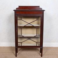 Glazed Bookcase Edwardian Astragal Display Cabinet Mahogany (11 of 11)