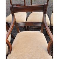 Fine Set of 8 Georgian Mahogany Dining Chairs (5 of 7)