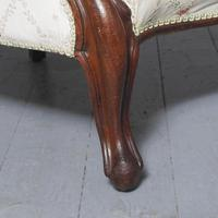 Antique Victorian Upholstered Mahogany Armchair (6 of 7)
