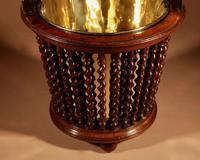 Beautiful Mahogany Tea Stove Bucket / Peat Bucket Jardinière (4 of 11)