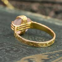 The Antique Victorian 1866 Ornate Moonstone Ring (3 of 5)