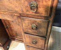 George III Style Burr Walnut Desk c.1920 (14 of 20)