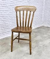 Matched Set of 6 Late Victorian Windsor Kitchen Chairs (5 of 5)