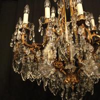 French 19th Century Bronze 24 Light Antique Chandelier (5 of 11)