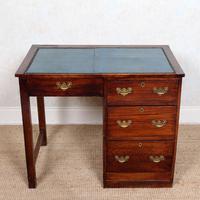 Edwardian Oak Pedestal Writing Desk (12 of 12)
