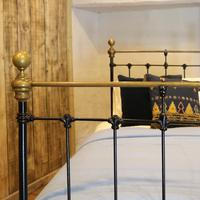 Black Straight Top Rail Victorian Single Antique Bed (3 of 5)