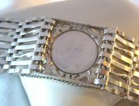 Vintage Sterling Silver Gate Bracelet 1976 St Christopher & Heart Padlock 34.3 Grams (9 of 12)