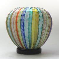 Museum Quality Very Fine Gino Cenedese Murano Vetri Textured Vase - Mid 20th Century