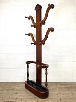 Victorian Mahogany Tree Shaped Hall Stand with Four Arms (6 of 10)