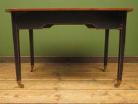 Antique Black Painted Writing Table with Wooden Top, Gothic Shabby Chic (12 of 19)
