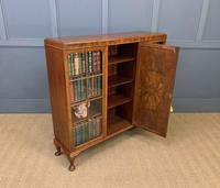 Burr Walnut Bookcase/Side Cabinet (9 of 15)
