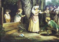 Pair of Early 19th Century Country Genre Scenes Oil on Canvas (10 of 21)