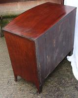 1900's Mahogany Bow Front Chest of Drawers + Crossbanding.Just Polished (3 of 4)