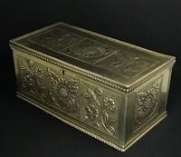 Aesthetic Movement Brass Repousse Box (2 of 7)