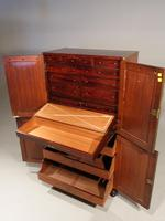 Very Rare Regency Period Mahogany Two Part Campaign Cabinet (4 of 6)