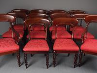 Set of 12 Scottish Mahogany Dining Chairs (11 of 18)