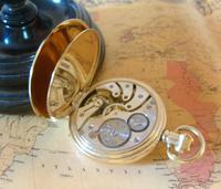 Pocket Watch 1937 Swiss 15 Jewel 9ct Rose Gold Filled Half Hunter FWO (12 of 12)