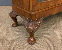 Burr Walnut Glazed Bookcase (10 of 14)