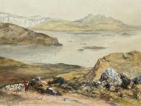 19th Century Scottish Highlands Watercolour Loch Kishorn By William Leighton Leitch (6 of 36)