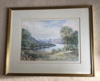 Harriet Drummond Watercolour 'Sketch from opposite side of Loch Earn' (2 of 3)
