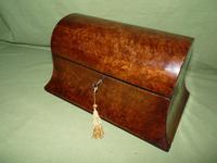 Large Burr Walnut Bell Style Tea Caddy - Original Lids c.1870 (3 of 11)