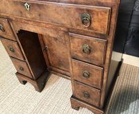 George III Style Burr Walnut Desk c.1920 (17 of 20)