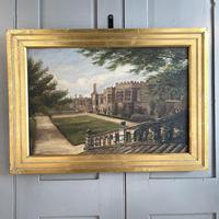 Antique Oil Painting Study of Haddon Hall Derbyshire Signed A E Richmond 1882 (2 of 9)