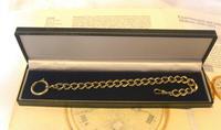 Antique German Pocket Watch Chain 1920s Ornate Silver Nickel Fancy Albert (11 of 11)
