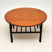 1960's Vintage Teak & Steel Coffee Table (3 of 8)