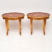 Pair of Antique French Style Giltwood Side Tables (2 of 10)